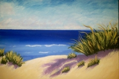 Beach II, acrylic