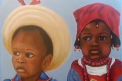 Haitian carnival 1980s, acrylic