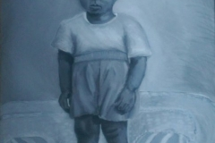 Standing Child, Haiti, acrylic