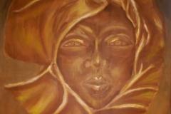 Haitian mask, acrylic