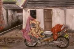 Bike, oil