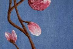 Pink Flower, acrylic