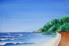 Beach, acrylic