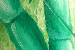 Bamboo, acrylic