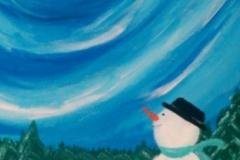Snowman, acrylic